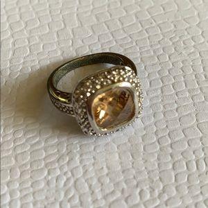 Jewelry - Yellow stone cocktail filigree ring